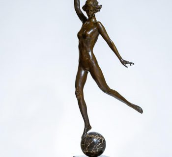 Photo of a bronze sculpture by Janet Scudder