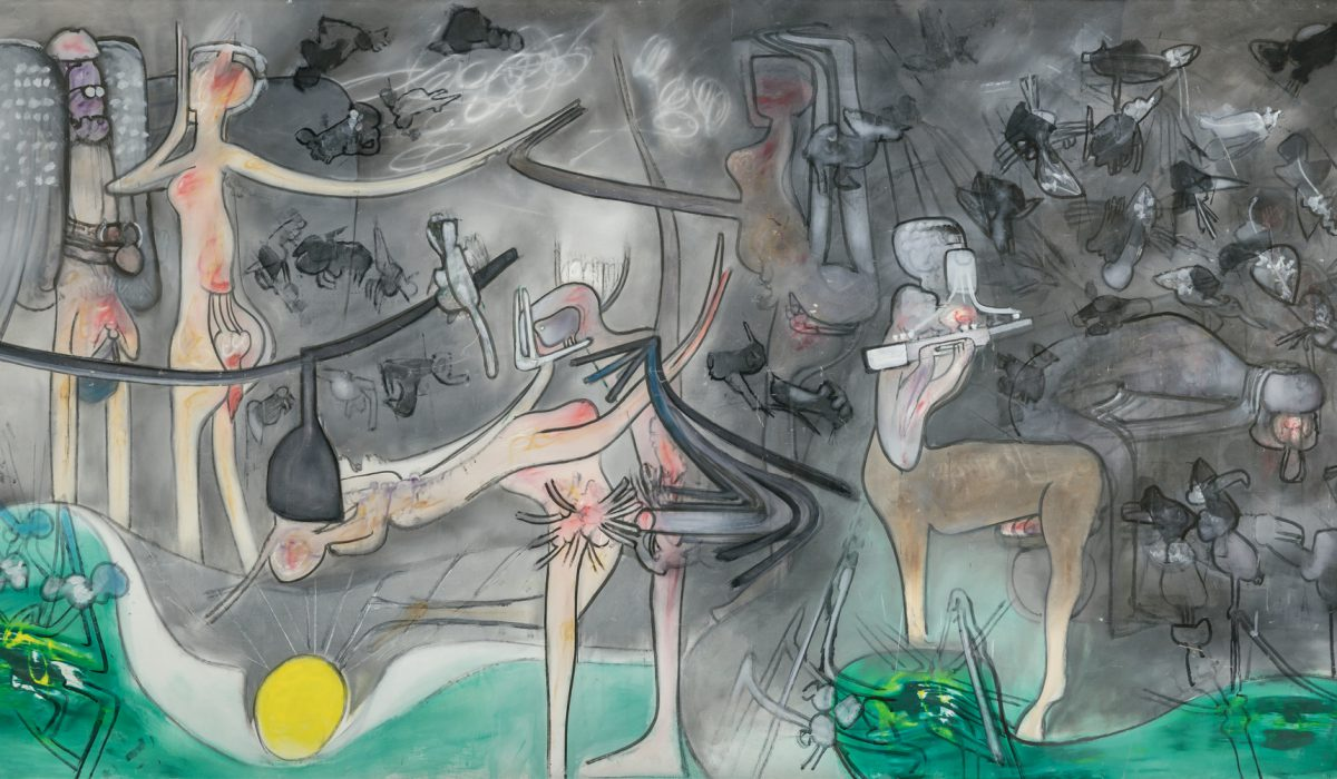 oil on canvas painting by Roberto Matta