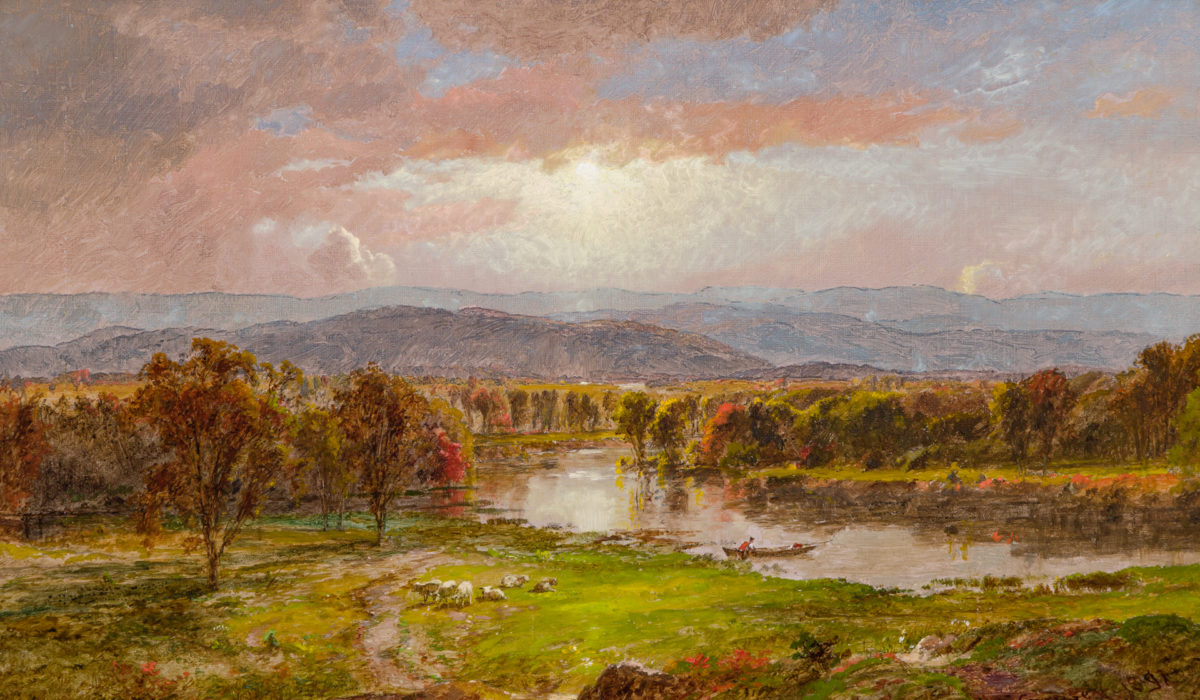Photo of an oil painting by JASPER FRANCIS CROPSEY