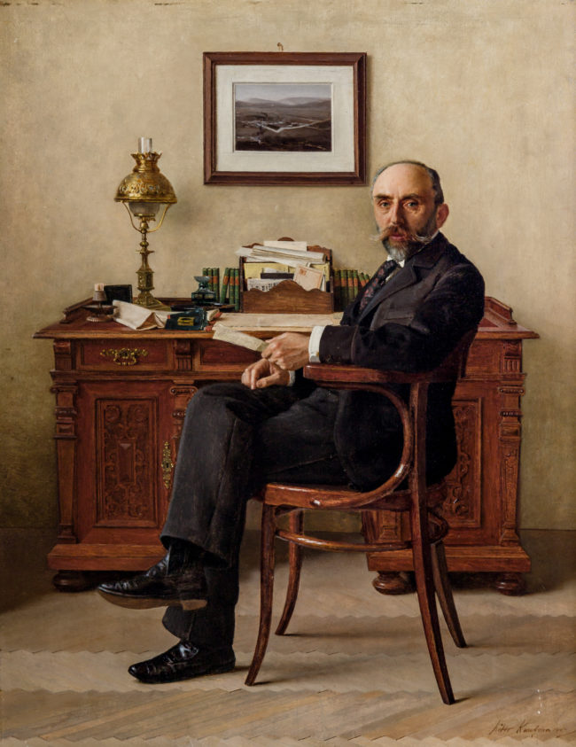 Portrait of Banker by ISIDOR KAUFMANN