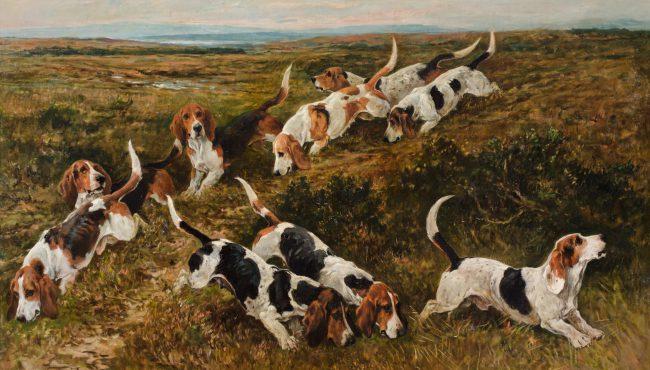 JOHN EMMS (England, 1843-1912) monumental oil on canvas laid on board