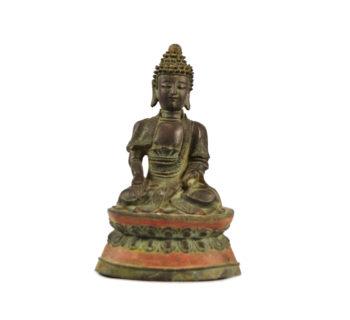 A Bronze Seated figure of a Bodhisattva