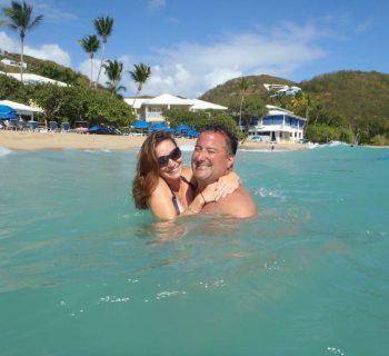 John and Sabrina Jureidini in the Caribbean