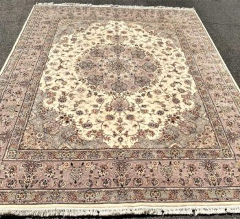TABRIZ HAND KNOTTED RUG WITH SILK HIGHLIGHTS WITH 200+ KPSI – 8.1 x 10.5