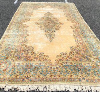 PALACE SIZED PERSIAN KERMAN HAND KNOTTED RUG WITH 200+ KPSI – 9.0 x 15.9