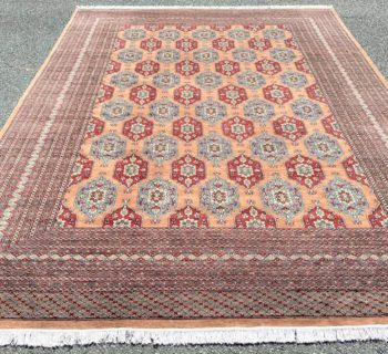 BUKHARA HAND KNOTTED RUG WITH 250+ KPSI – 10.1 x 13.10