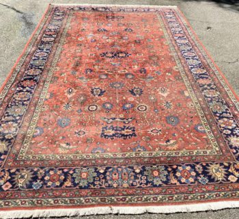 ANTIQUE PERSIAN SAROUK HAND KNOTTED RUG – 8.10 x 14.11