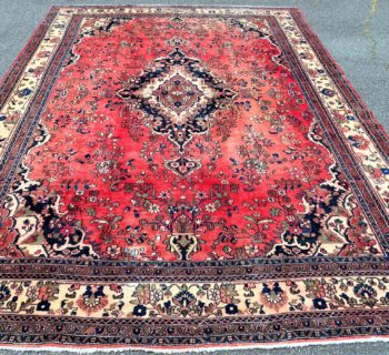 ANTIQUE PERSIAN LILIHAN HAND KNOTTED RUG – 10.4 x 14.7