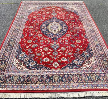 ISFAHAN HAND KNOTTED RUG – 7.9 x 11.5