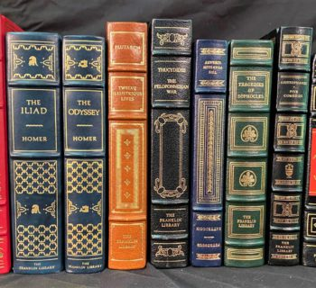 ANCIENT GREEKS - FRANKLIN LIBRARY LEATHER BOUND BOOKS – 10 VOLUMES