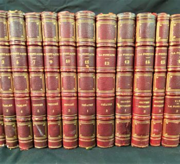 OEUVRES COMPLETES DE LA FONTAINE – 15 VOLUMES – 1820