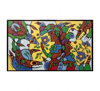 """Norval Morrisseau's """"Remembering the Place of Summer's Harvest"""" Original"""