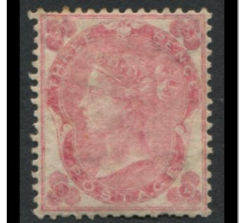 Great Britain 1862 #37 A12 3 Pence Pale Rose