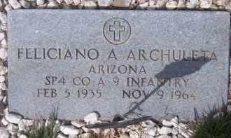 ARCHULETA, FELICIANO A. - Apache County, Arizona   FELICIANO A. ARCHULETA - Arizona Gravestone Photos