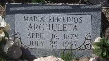 ARCHULETA, MARIA - Apache County, Arizona | MARIA ARCHULETA - Arizona Gravestone Photos