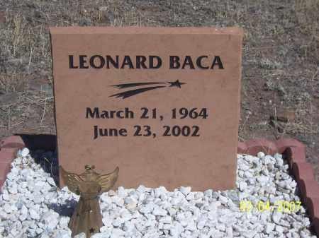 BACA, LEONARD - Apache County, Arizona   LEONARD BACA - Arizona Gravestone Photos