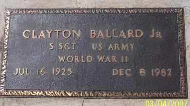 BALLAERD, CLAYTON JR - Apache County, Arizona | CLAYTON JR BALLAERD - Arizona Gravestone Photos