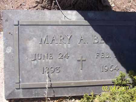 BECK, MARY A. - Apache County, Arizona   MARY A. BECK - Arizona Gravestone Photos