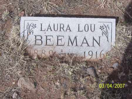 BEEMAN, LAURA LOU - Apache County, Arizona | LAURA LOU BEEMAN - Arizona Gravestone Photos