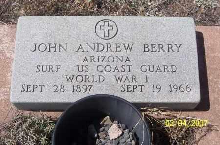 BERRY, JOHN ANDREW - Apache County, Arizona | JOHN ANDREW BERRY - Arizona Gravestone Photos