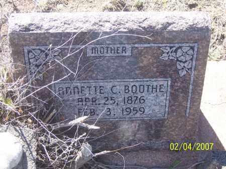 BOOTHE, ANNETTE C. - Apache County, Arizona | ANNETTE C. BOOTHE - Arizona Gravestone Photos