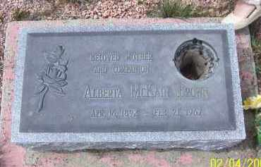 BROWN, ALBERTA MCKAIN - Apache County, Arizona | ALBERTA MCKAIN BROWN - Arizona Gravestone Photos