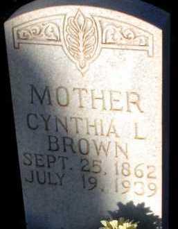 BROWN, CYNTHIA L. - Apache County, Arizona | CYNTHIA L. BROWN - Arizona Gravestone Photos