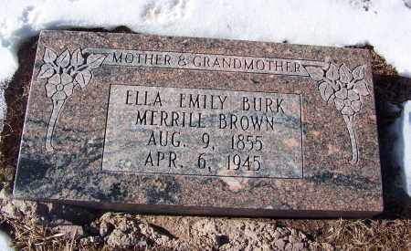 MERRILL BROWN, ELLA EMILY BURK - Apache County, Arizona | ELLA EMILY BURK MERRILL BROWN - Arizona Gravestone Photos