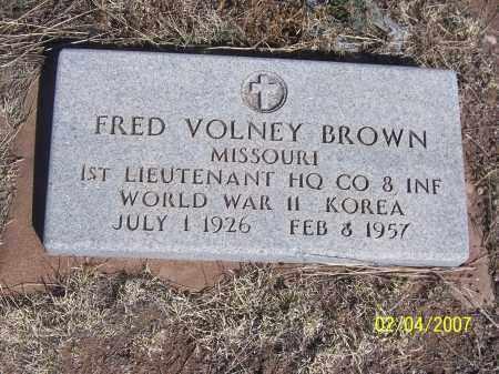 BROWN, FRED VOLNEY - Apache County, Arizona | FRED VOLNEY BROWN - Arizona Gravestone Photos