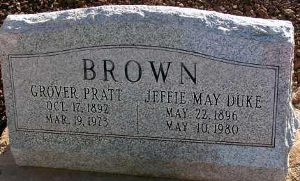 BROWN, JEFFIE MAY - Apache County, Arizona | JEFFIE MAY BROWN - Arizona Gravestone Photos