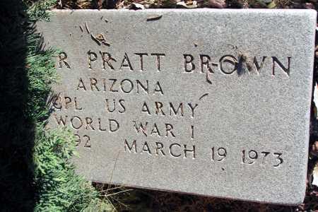 BROWN, GROVER PRATT - Apache County, Arizona | GROVER PRATT BROWN - Arizona Gravestone Photos