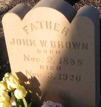 BROWN, JOHN W. - Apache County, Arizona   JOHN W. BROWN - Arizona Gravestone Photos