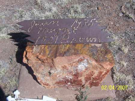 BROWN, JEAN MARGARET - Apache County, Arizona   JEAN MARGARET BROWN - Arizona Gravestone Photos