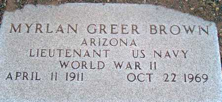 BROWN, MYRLAN GREER - Apache County, Arizona | MYRLAN GREER BROWN - Arizona Gravestone Photos