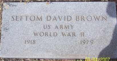 BROWN, SEFTOM DAVID - Apache County, Arizona | SEFTOM DAVID BROWN - Arizona Gravestone Photos