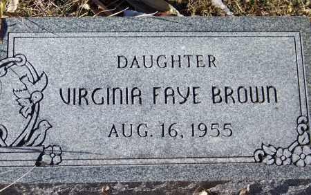 BROWN, VIRGINIA FAYE - Apache County, Arizona | VIRGINIA FAYE BROWN - Arizona Gravestone Photos