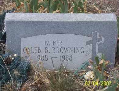 BROWNING, CALEB B. - Apache County, Arizona | CALEB B. BROWNING - Arizona Gravestone Photos
