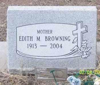 BROWNING, EDITH M. - Apache County, Arizona   EDITH M. BROWNING - Arizona Gravestone Photos