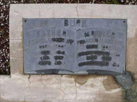 BURK, ASAHEL WOODRUFF - Apache County, Arizona | ASAHEL WOODRUFF BURK - Arizona Gravestone Photos