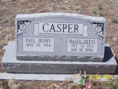 CASPER, HAZEL ESTYL - Apache County, Arizona   HAZEL ESTYL CASPER - Arizona Gravestone Photos