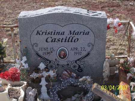 CASTILLO, KRISTINA MARIA - Apache County, Arizona | KRISTINA MARIA CASTILLO - Arizona Gravestone Photos