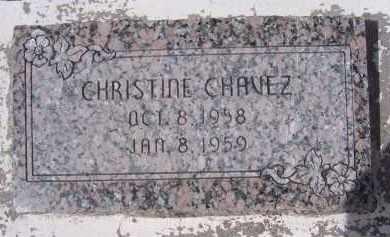 CHAVEZ, CHRISTINE - Apache County, Arizona | CHRISTINE CHAVEZ - Arizona Gravestone Photos