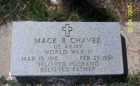 CHAVEZ, MACK B - Apache County, Arizona | MACK B CHAVEZ - Arizona Gravestone Photos