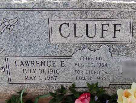 CLUFF, LAWRENCE E. - Apache County, Arizona | LAWRENCE E. CLUFF - Arizona Gravestone Photos