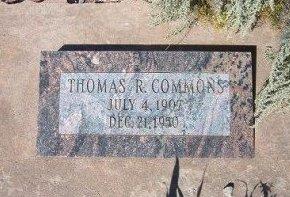 COMMONS, THOMAS R - Apache County, Arizona | THOMAS R COMMONS - Arizona Gravestone Photos