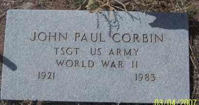 CORBIN, JOHN PAUL - Apache County, Arizona   JOHN PAUL CORBIN - Arizona Gravestone Photos