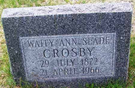 CROSBY, WAITY ANN - Apache County, Arizona | WAITY ANN CROSBY - Arizona Gravestone Photos