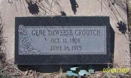 CROUTCH, GENE DEWEESE - Apache County, Arizona   GENE DEWEESE CROUTCH - Arizona Gravestone Photos