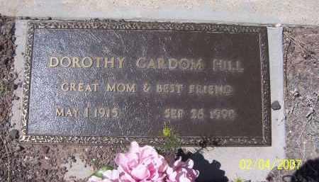 HILL GARDOM, DOROTHY - Apache County, Arizona | DOROTHY HILL GARDOM - Arizona Gravestone Photos