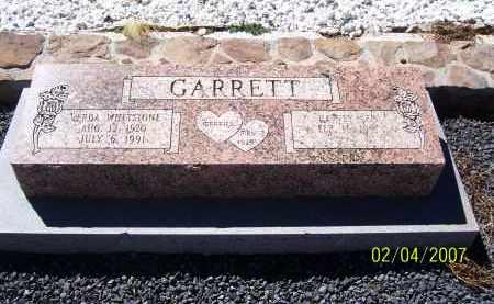 WHETSTONE GARRETT, VERDA - Apache County, Arizona | VERDA WHETSTONE GARRETT - Arizona Gravestone Photos